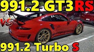 2019 GT3RS 991.2 vs Porsche 991.2 Turbo S - 1/4 Mile Drag Race - RoadTestTV