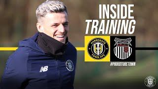 Inside Training pre Grimsby Town | Belshaw pulls out top class save!