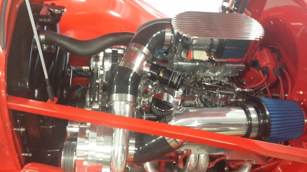 TorqStorm Supercharger on a SBC 1934 Chevy - YouTube