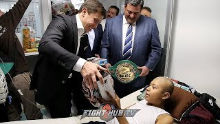 Heart of gold! Gennady Golovkin brings gifts to sick hospitalized kids in Mexico