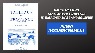 Paule Maurice – Tableaux de Provence, mvt. IV (Piano Accompaniment)