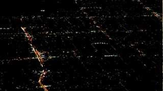 Twinkling city lights across the Los Angeles Basin