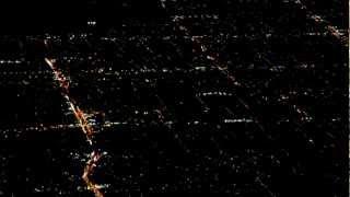 Twinkling city lights across the Los Angeles Basin
