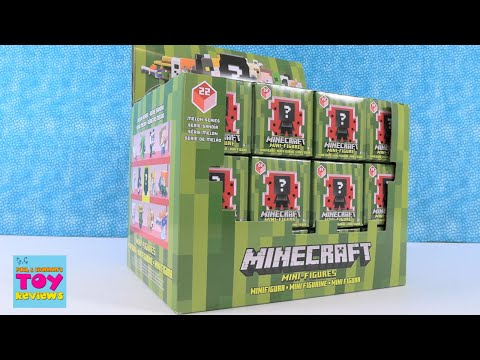 Minecraft Melon Series 22 Full Box MiniFigures Opening Blind Box Review | PSToyReviews