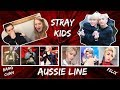 Reaction to Stray Kids - Aussie Line, Felix's Voice & Bang Chan's Abs!