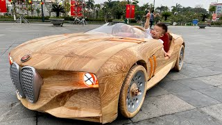 Wood Carving - BMW 328 Hommage - ND Woodworking Art
