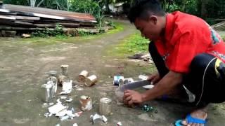 Cara membuat alat pengusir burung di tanaman padi di sawah | fhia,  ahmad &  basyar