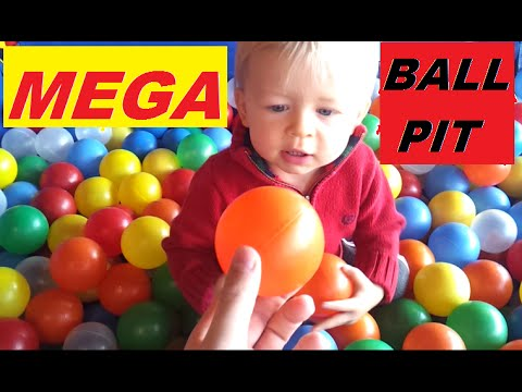 **MEGA** Ball Pit, Fun Toys for learning colors -- children's educational video