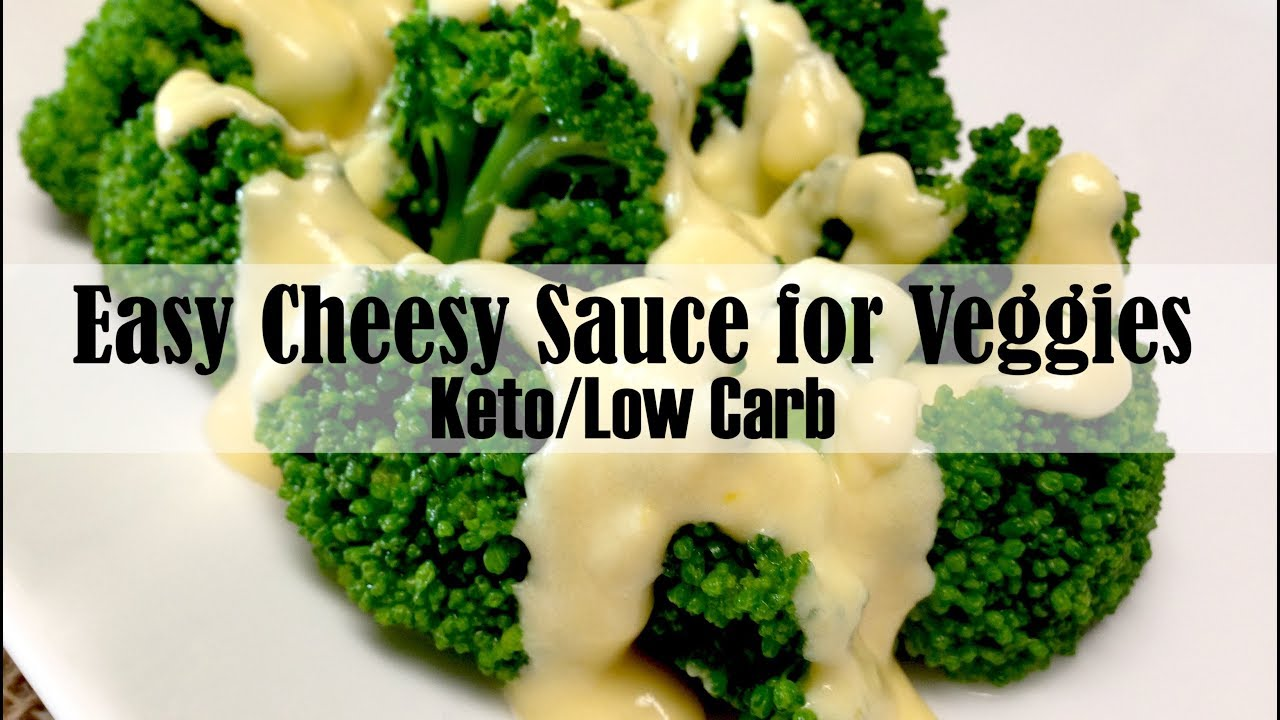 Easy Cheese Sauce For Veggies Keto And Low Carb Youtube