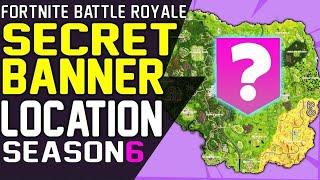 SECRET BANNER LOCATION WEEK 8 Fortnite Battle Royale Season 6 Secret Battle Star