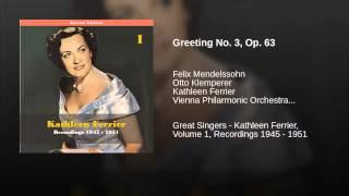 Greeting No. 3, Op. 63