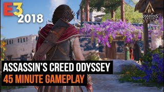 45 Minutes  of Assassin's Creedy Odyssey Gameplay in 4K E3 2018