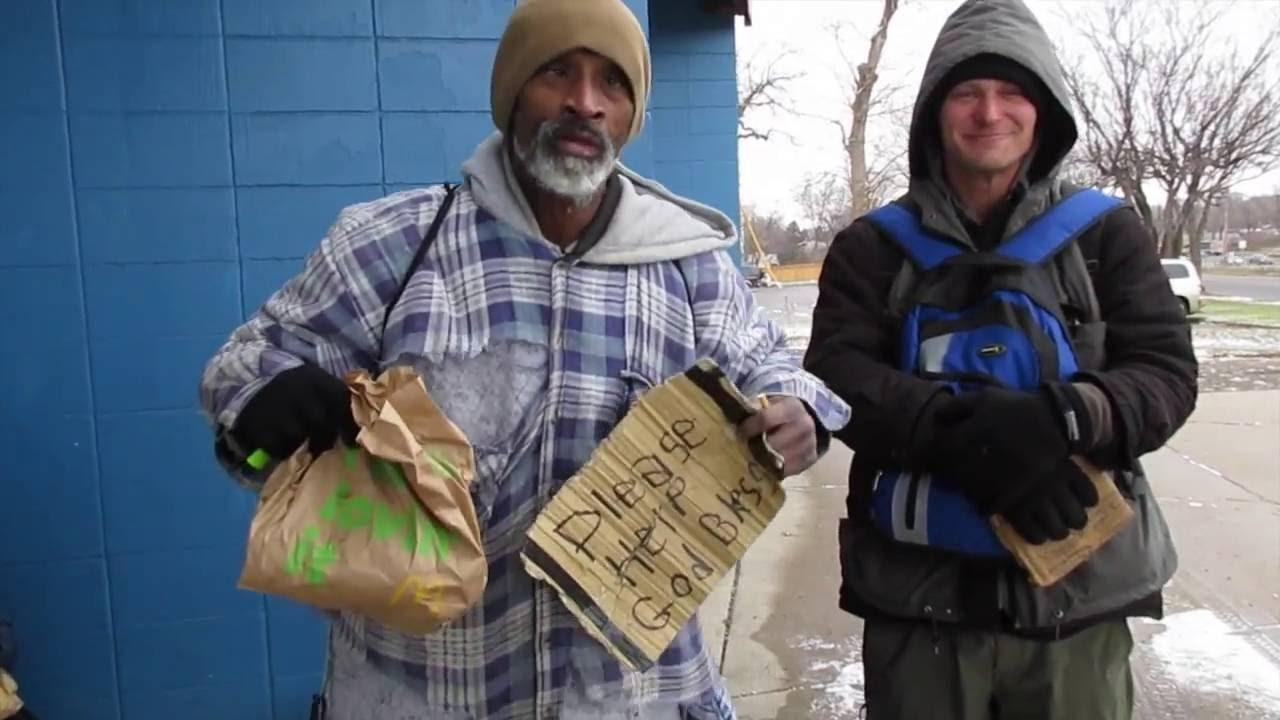 300 Cheeseburgers Feeding the Homeless! - Helping the ...