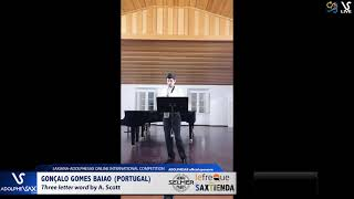 Gonzalo GOMES BAIAO plays Three letter word by A. Scott #adolphesax