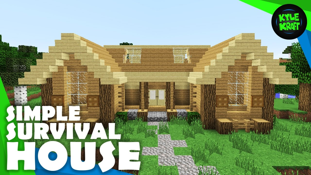 minecraft simple starting survival house minecraft listings youtube