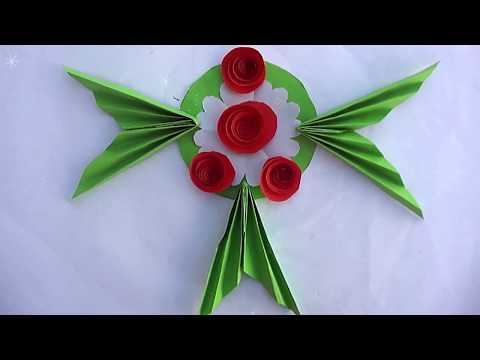 DIY Paper Wall Hanging!!! How to Make Easy Paper Flower Wall Hanging - Wall Decoration Ideas