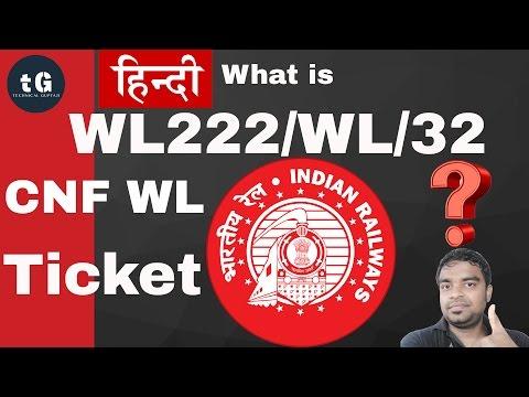 Hindi   What is Waitng List - Confirm Waiting List ticket   Technical Guptaji