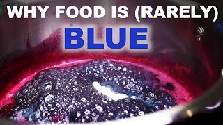 Why food is blue (or usually isn't)