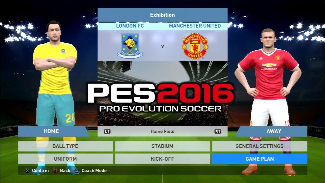 PS3  United PES 2016 Chelsea Vs 2-3 Manchester (London fc)