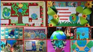 School display board on environment || Earth day school display board ||