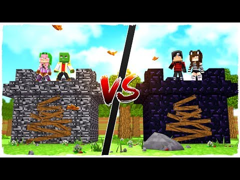 BEDROCK FORTRESS VS OBSIDIAN FORTRESS  MINECRAFT