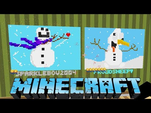 DERPY SNOWMAN AND REINDEERS!  MINECRAFT PIXEL PAINTERS GAME