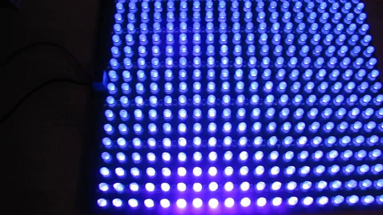 Светодиодная матрица - Kinetic LED matrix lighting installation .