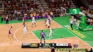 NBA Los Angeles Lakers vs Boston Celtics - 1st Qrt - NBA Live 14 - PlayStation 4 - HD