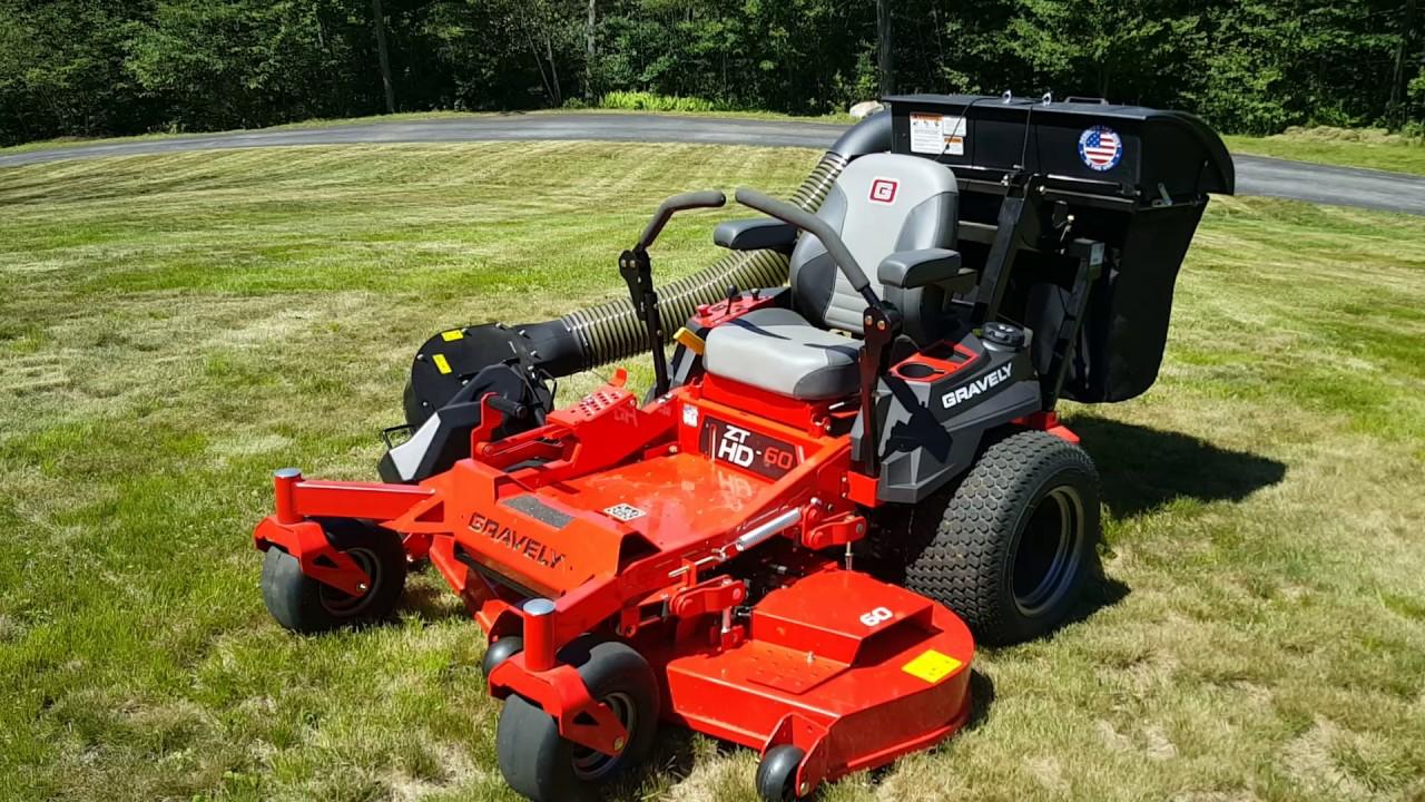 Gravely zt hd 52 zero turn mower   safford equipment company.