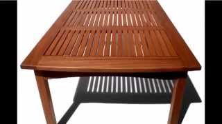 Outdoor Coffee Table - Strathwood Gibranta All Weather Hardwood Coffee