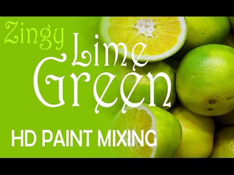 Hd Paint Mixing Zingy Lime Green Colour