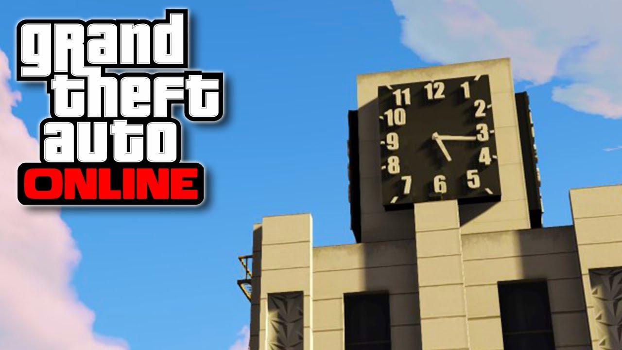 Gta  Online Awesome Clock Tower Secret Ultimate Sniping Spot Gta V Youtube