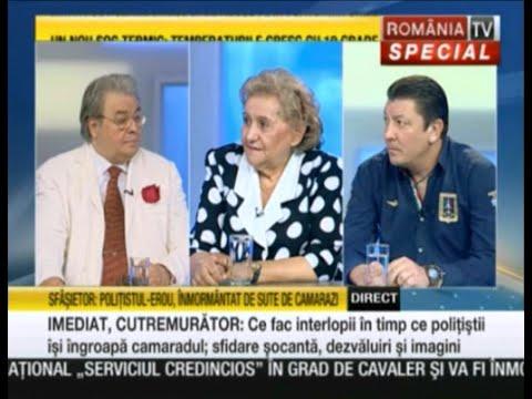 RomâniaTV, 23 August 2015, înmormîntarea polițistului erou