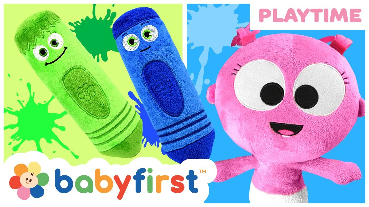 Learning Colors with Nail Polish | GaaGaa & Color Crew Pretend Play Toys for Toddlers | BabyFirst TV