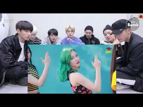 BTS Reaction Nancy Dance Cover Baam