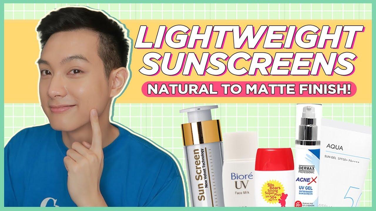 NATURAL to MATTE FINISH SUNSCREENS na LIGHTWEIGHT! (Filipino) | Jan Angelo
