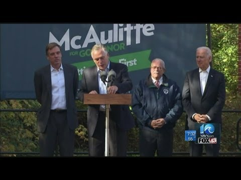 Katie Collette interviews Terry McAuliffe on election day