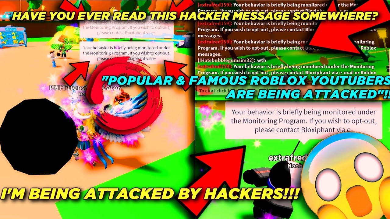 We All Are Being Attacked On Roblox Hackers Bots Spy