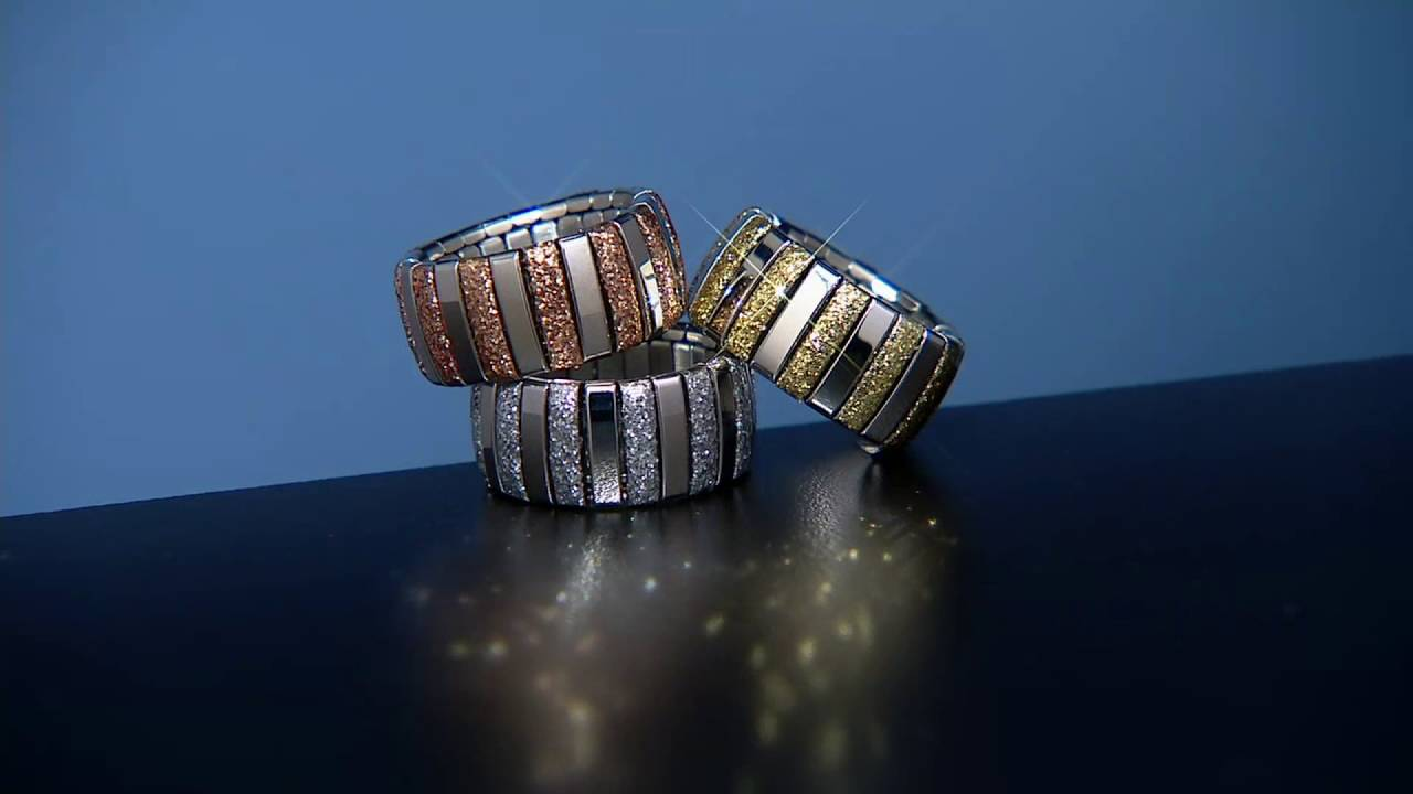 Steel By Design Stretch Glitter Ring On Qvc Youtube