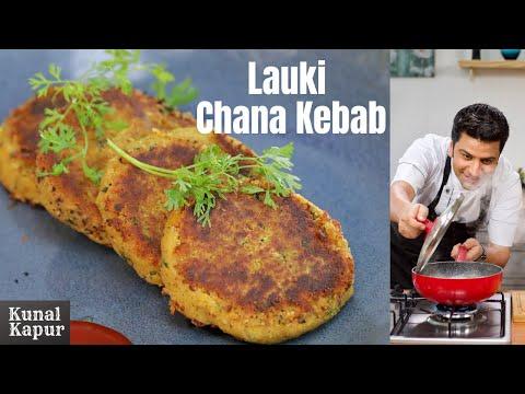 Lauki Chana Dal Ke Kebab Recipe   Kunal Kapur Vegetarian Kebab Recipe   Veg Snacks   Doodhi Subzi