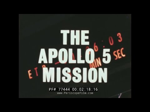 THE APOLLO 5 MISSION NASA APOLLO PROGRAM LUNAR MODULE FILM  77444