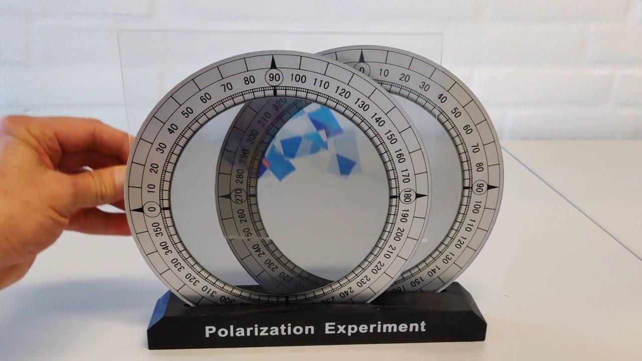 Polariseret lys gennem tape