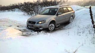 Subaru outback off road deep snow extreme