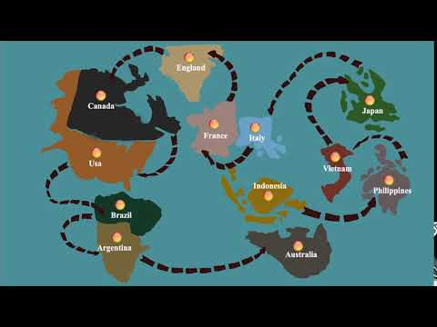 Simple World Map Animation