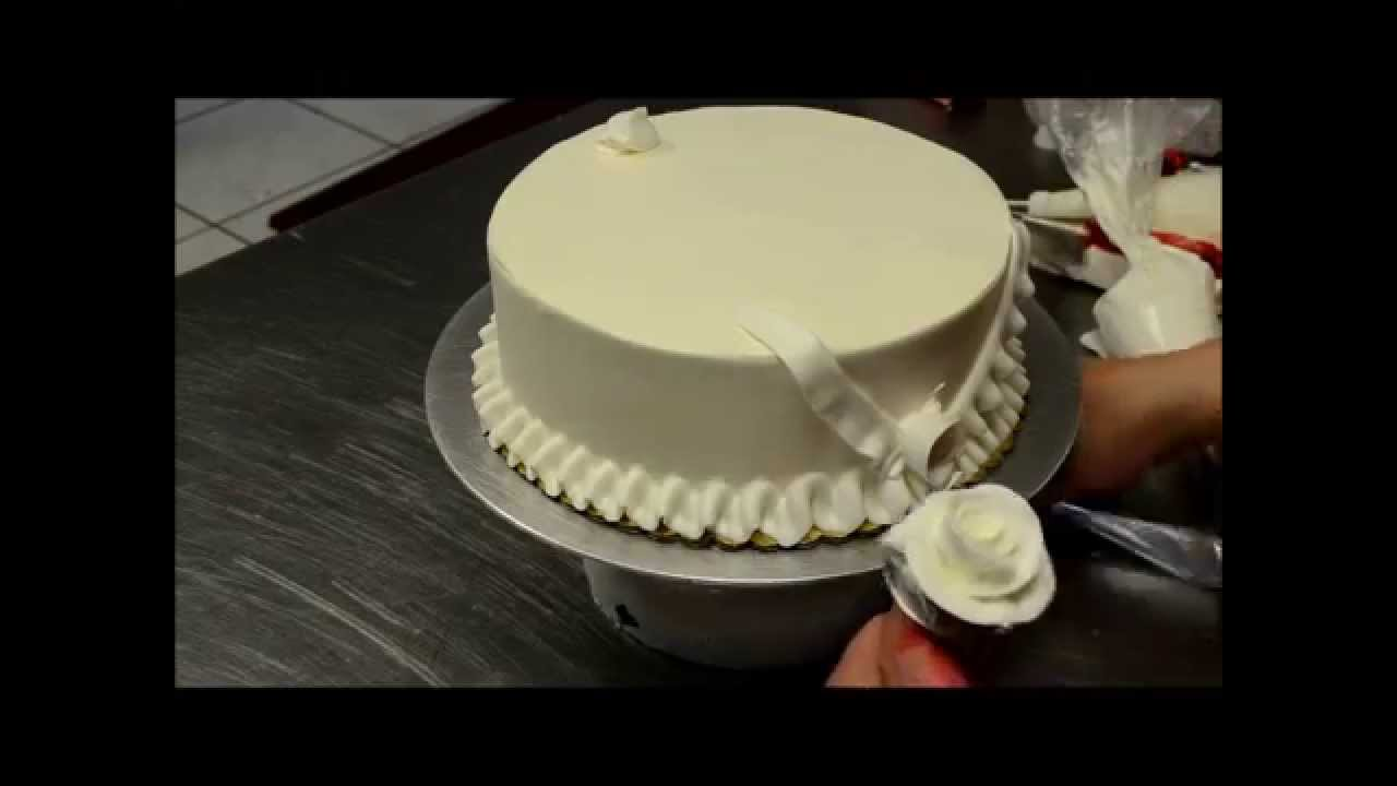 How to decorate simple birthday cake in minutes YouTube