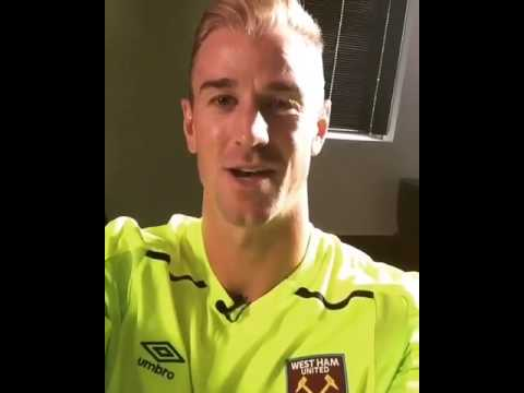 Joe Hart Addressing The Fans After joining West Ham