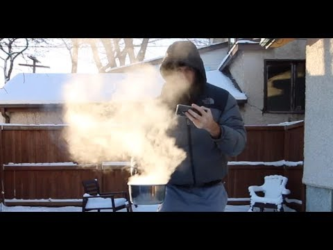 What Happens If I Throw Boiling Water At -41°C? (Winnipeg, Canada)