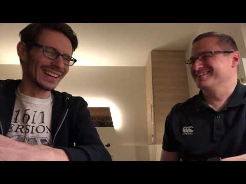 A chat with Brother Martin Bocksberger in Frankfurt, Germany.
