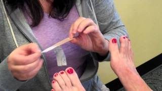 Variation of Spica Taping for Big Toe Joint Pain