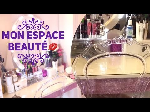 VANITY TOUR : Mon Espace Beauté : Rangement /parfums /maquillage etc..